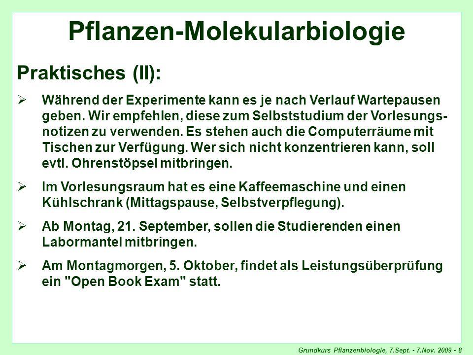 Pflanzen-Molekularbiologie