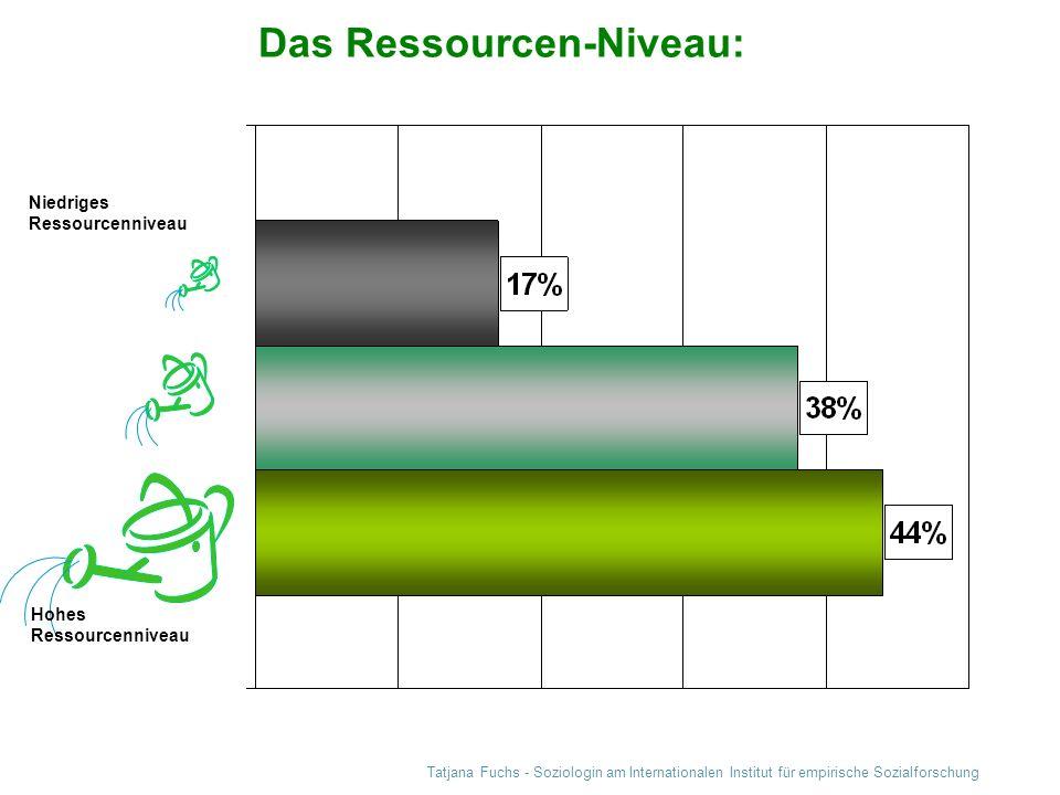 Das Ressourcen-Niveau: