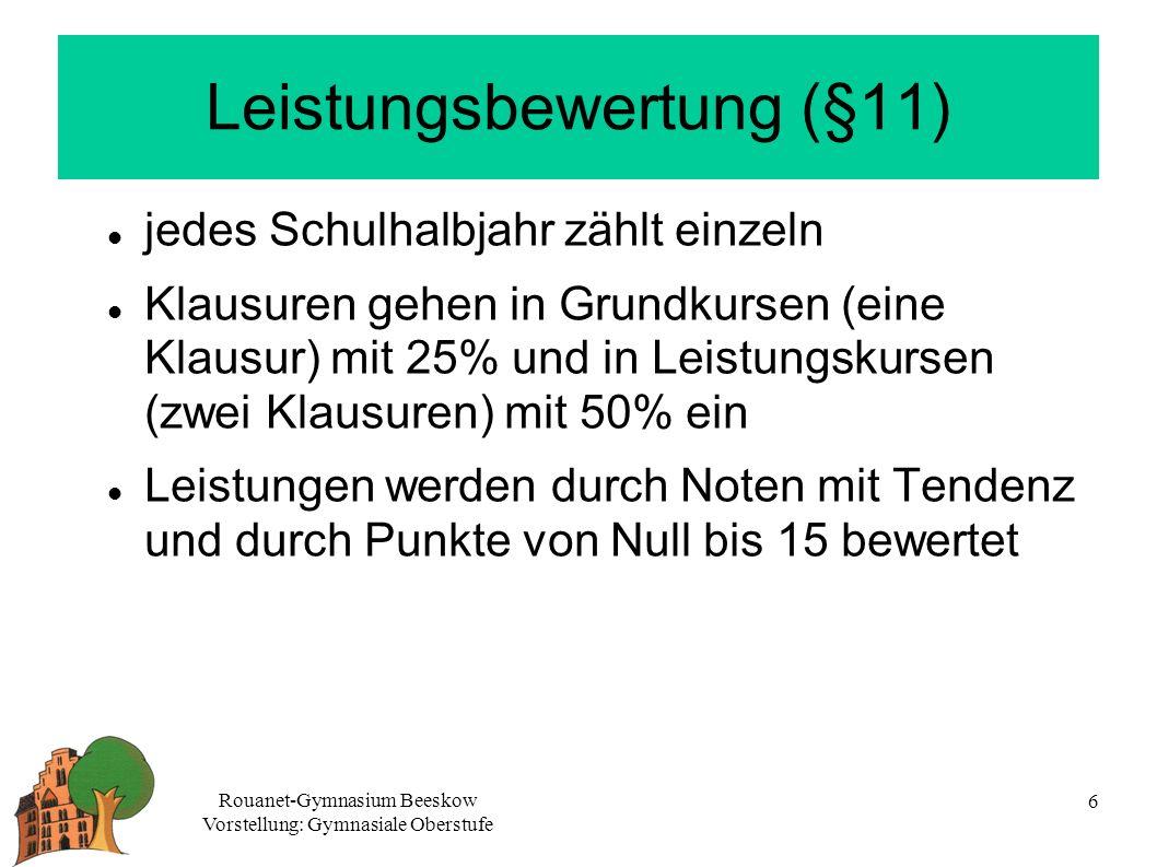 Leistungsbewertung (§11)