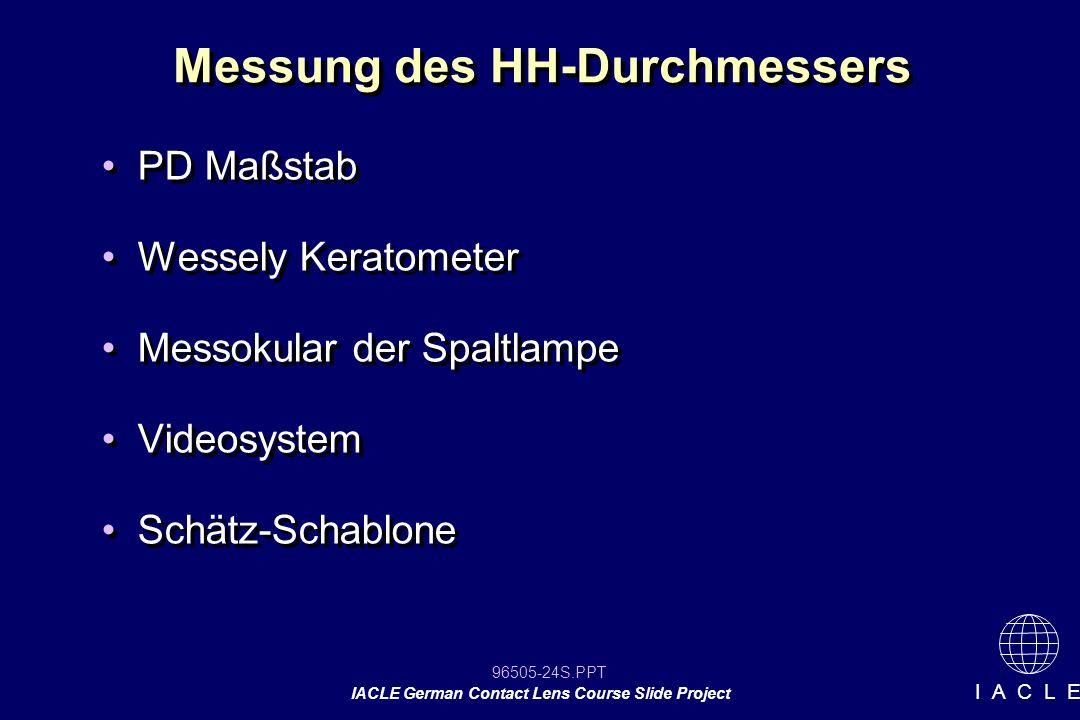 Messung des HH-Durchmessers