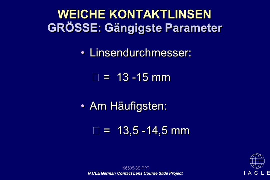 GRÖSSE: Gängigste Parameter