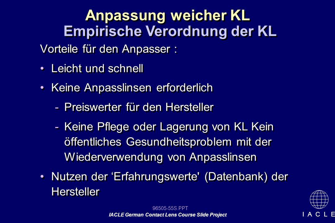 Empirische Verordnung der KL
