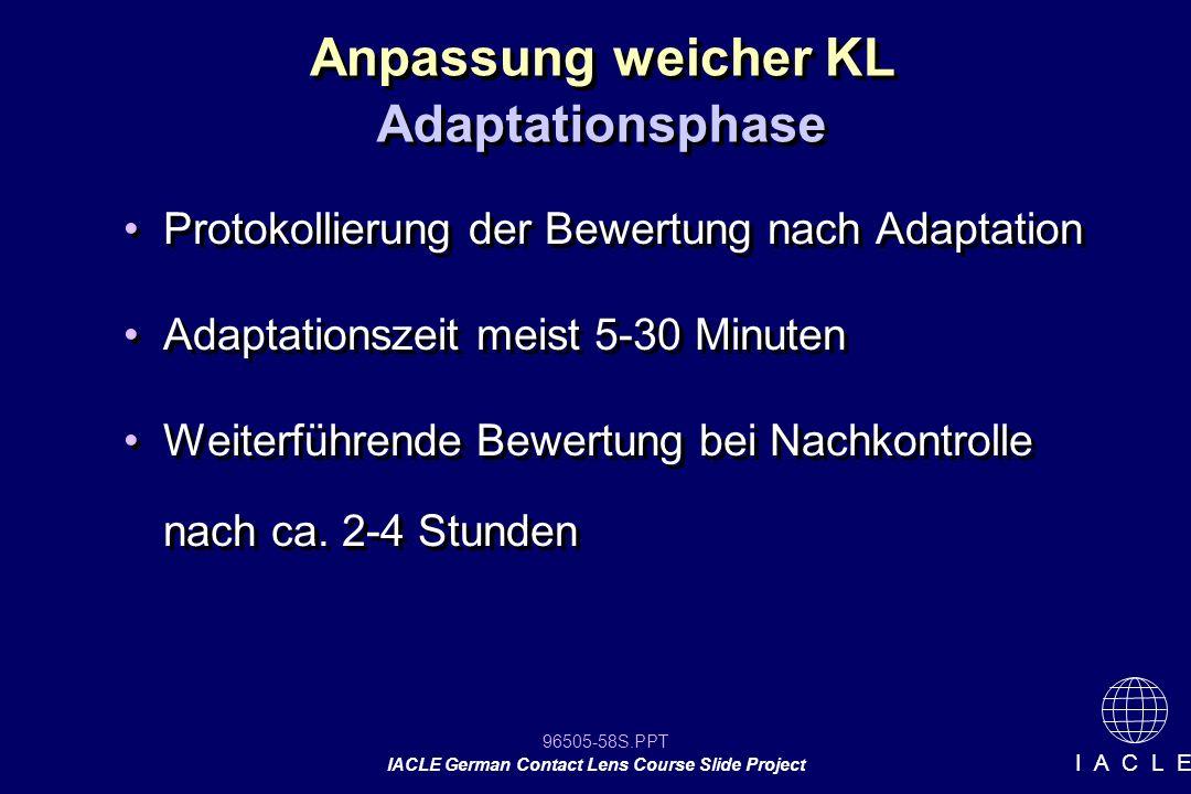 Anpassung weicher KL Adaptationsphase