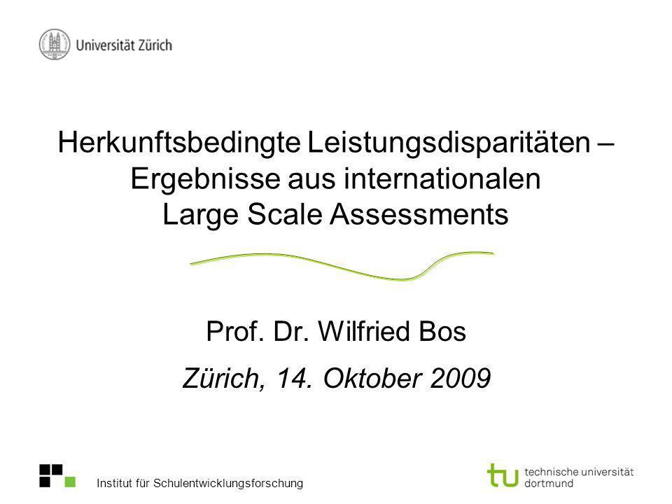 Prof. Dr. Wilfried Bos Zürich, 14. Oktober 2009