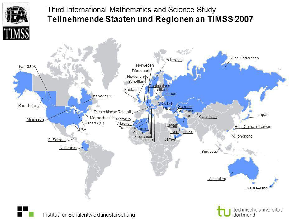 Third International Mathematics and Science Study Teilnehmende Staaten und Regionen an TIMSS 2007