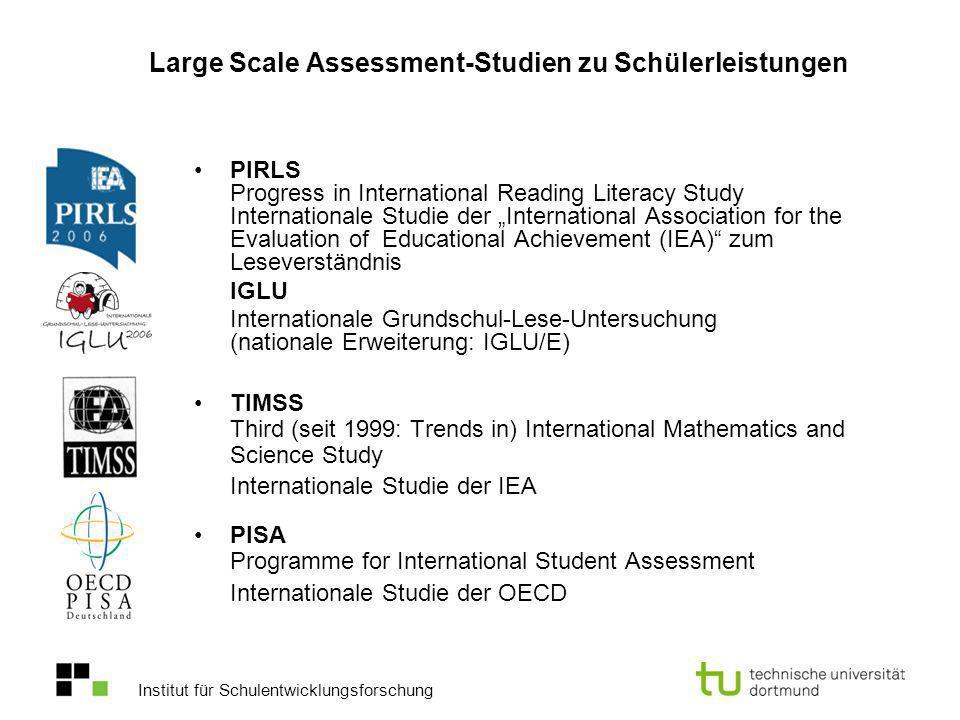 Large Scale Assessment-Studien zu Schülerleistungen