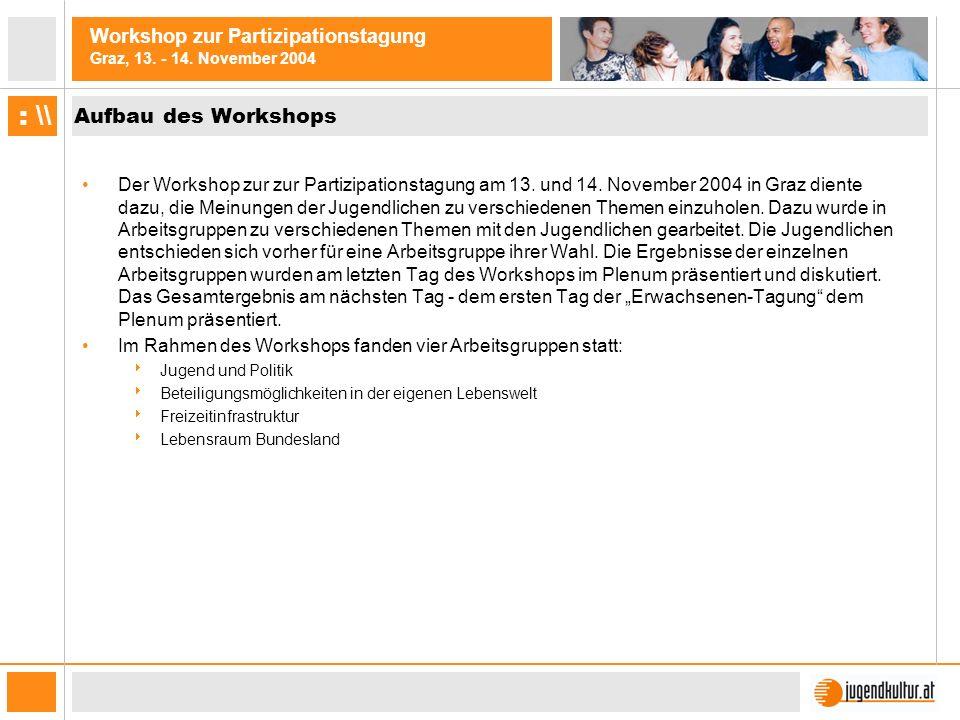 Aufbau des Workshops