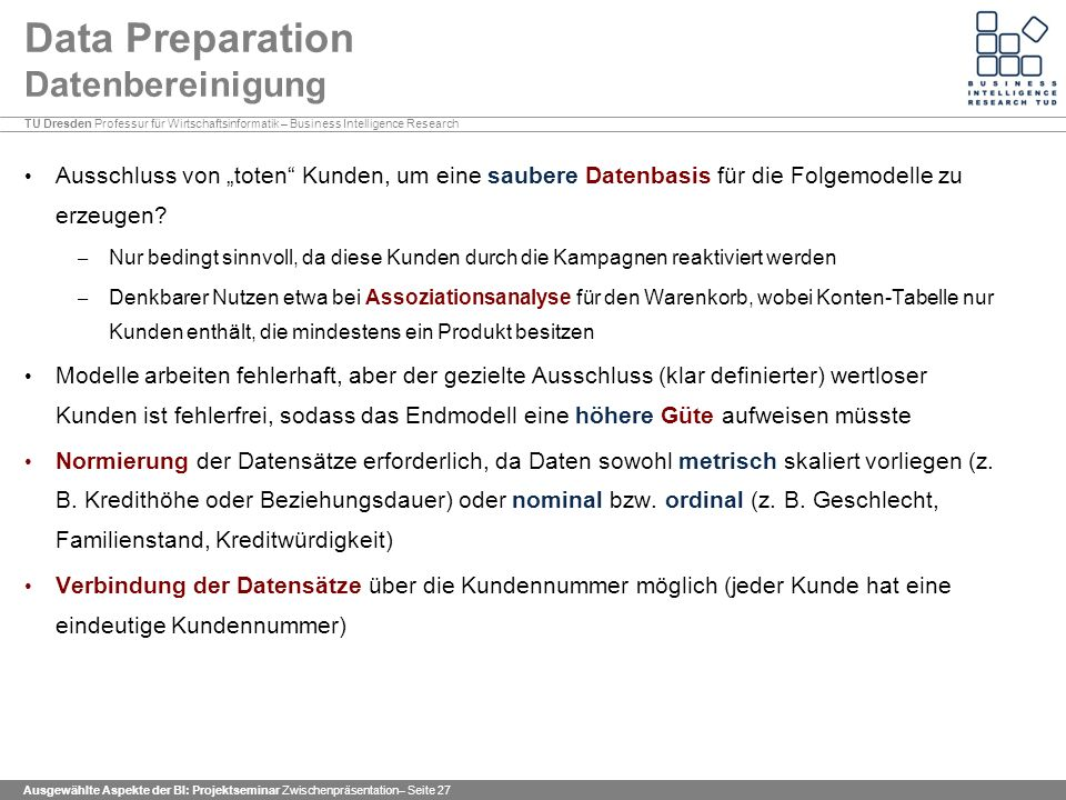 Data Preparation Datenbereinigung