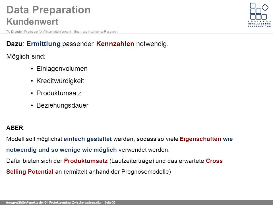 Data Preparation Kundenwert