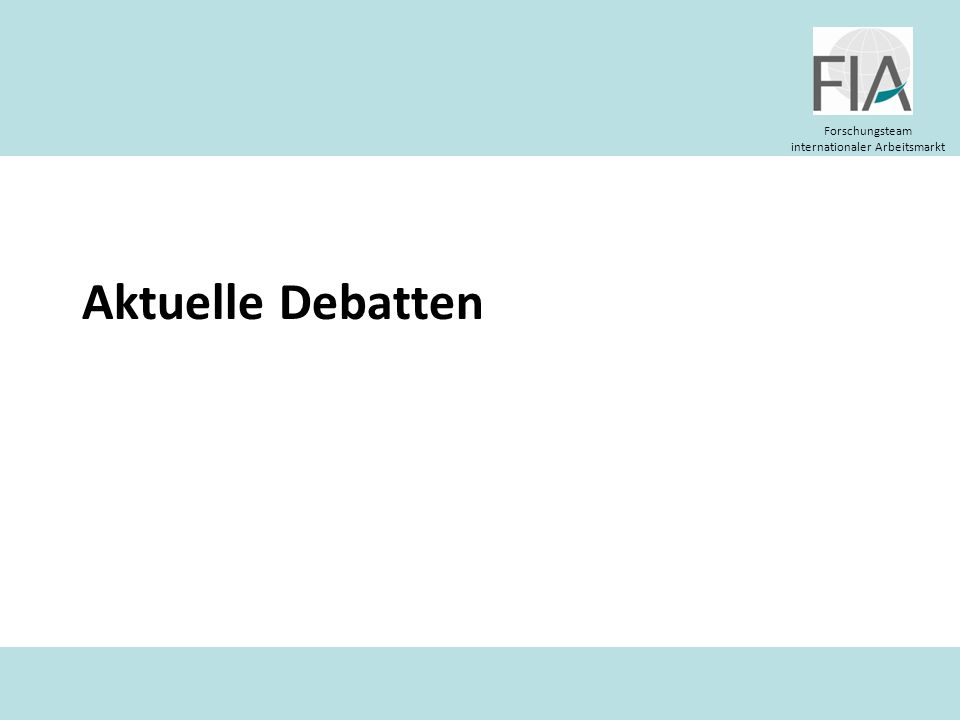 Aktuelle Debatten