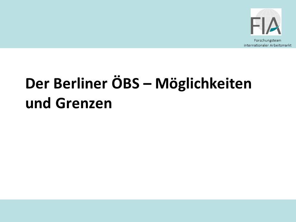 Der Berliner ÖBS – Möglichkeiten und Grenzen