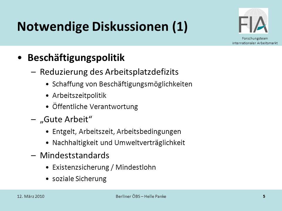 Notwendige Diskussionen (1)