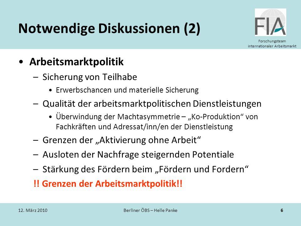 Notwendige Diskussionen (2)