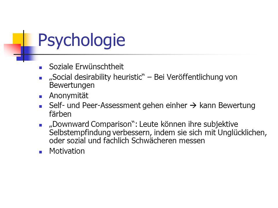 Psychologie Soziale Erwünschtheit