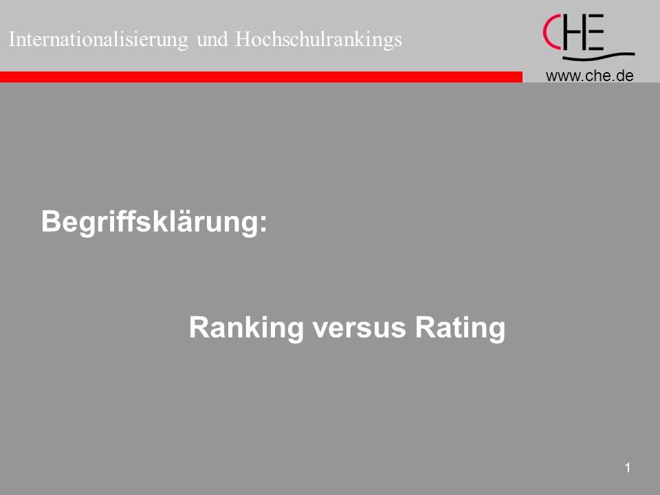 Begriffsklärung: Ranking versus Rating