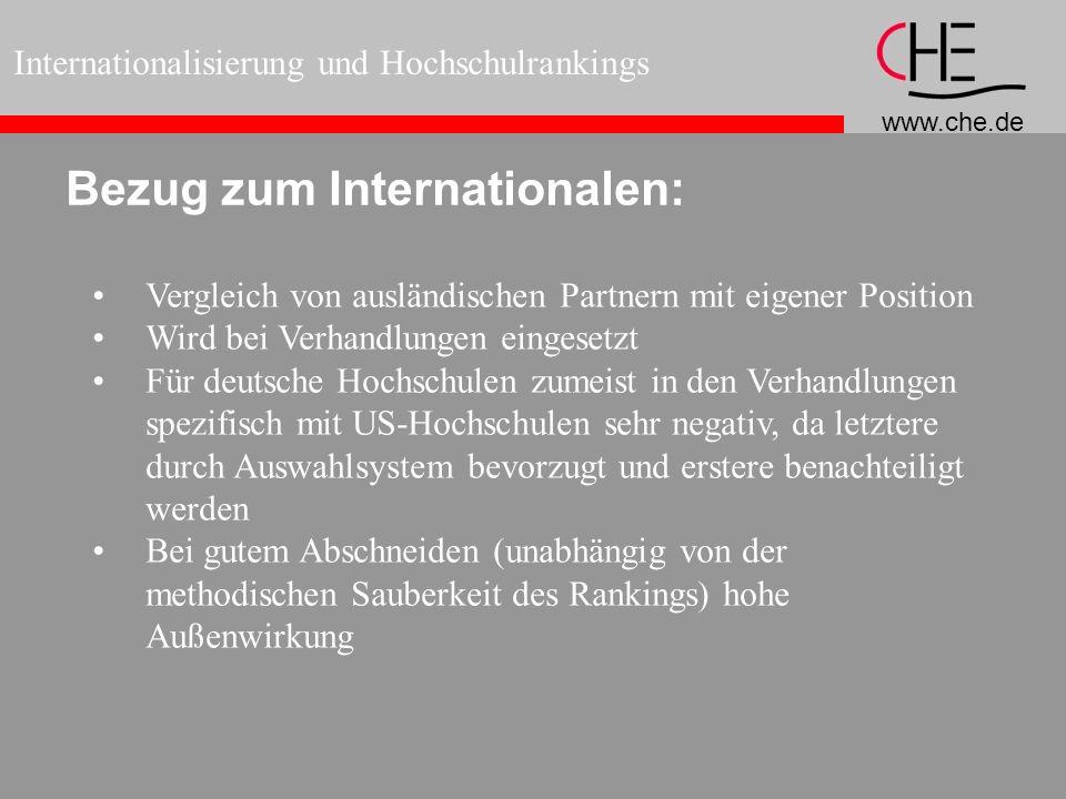 Bezug zum Internationalen: