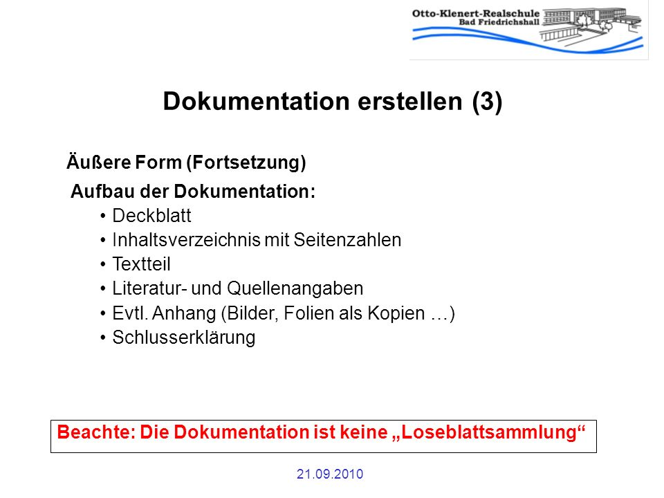 Dokumentation erstellen (3)