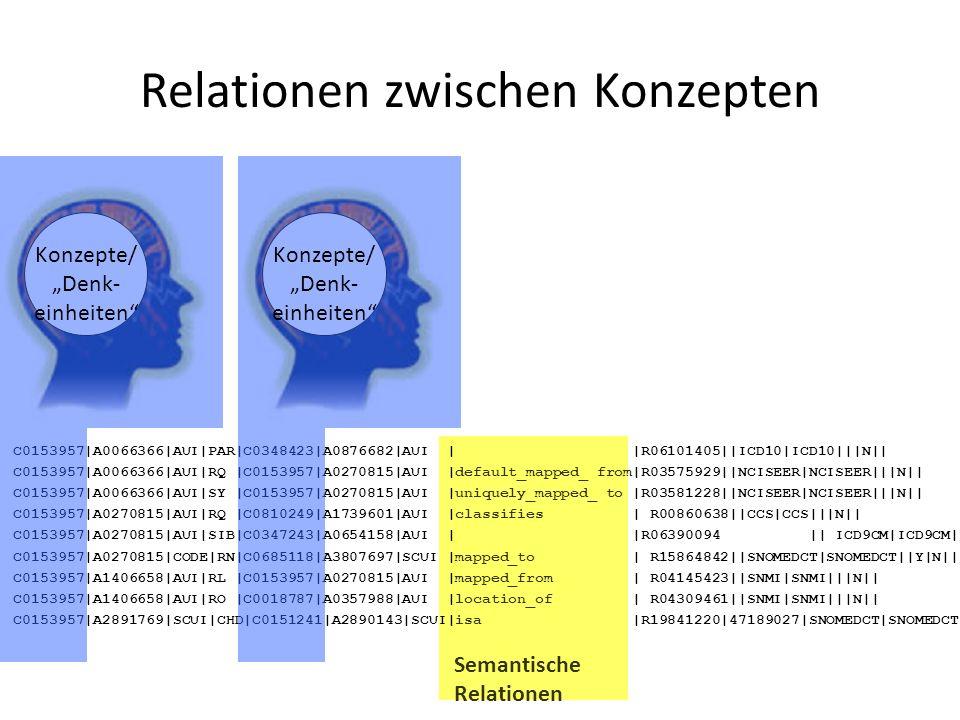 Relationen zwischen Konzepten