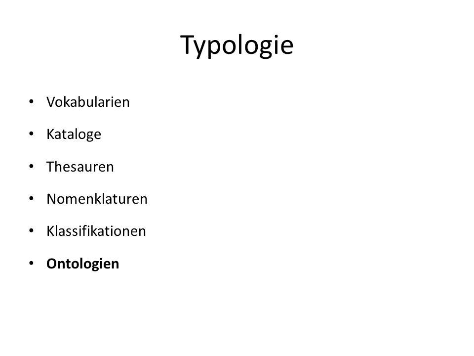 Typologie Vokabularien Kataloge Thesauren Nomenklaturen