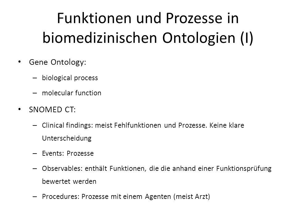 Funktionen und Prozesse in biomedizinischen Ontologien (I)