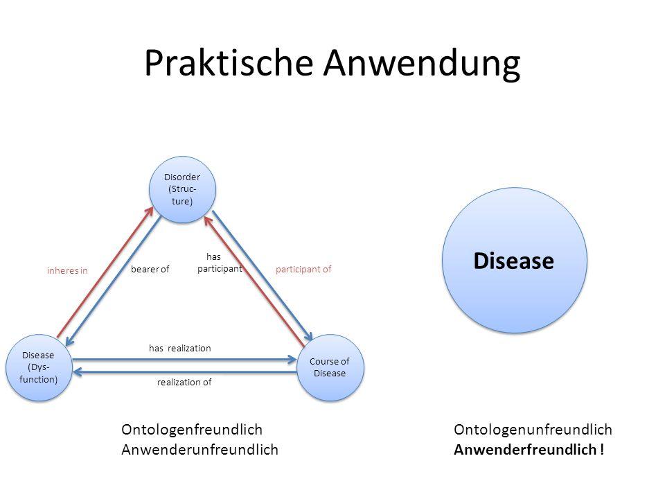 Praktische Anwendung Disease Ontologenfreundlich Anwenderunfreundlich