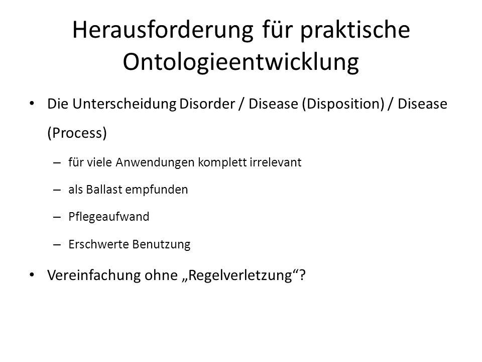 Herausforderung für praktische Ontologieentwicklung