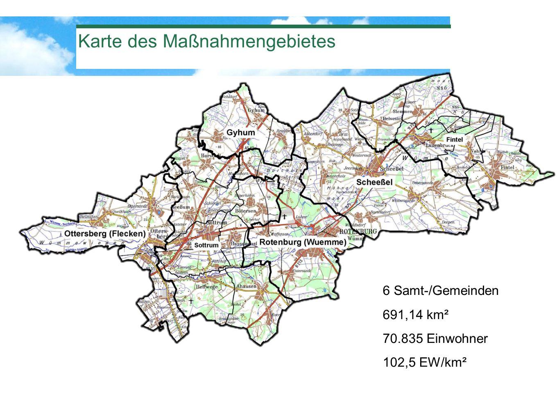 Karte des Maßnahmengebietes