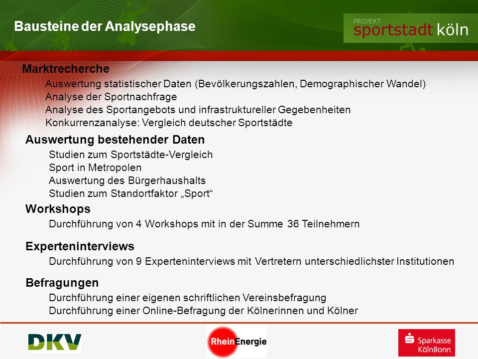 Bausteine der Analysephase