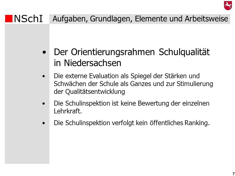 Der Orientierungsrahmen Schulqualität in Niedersachsen