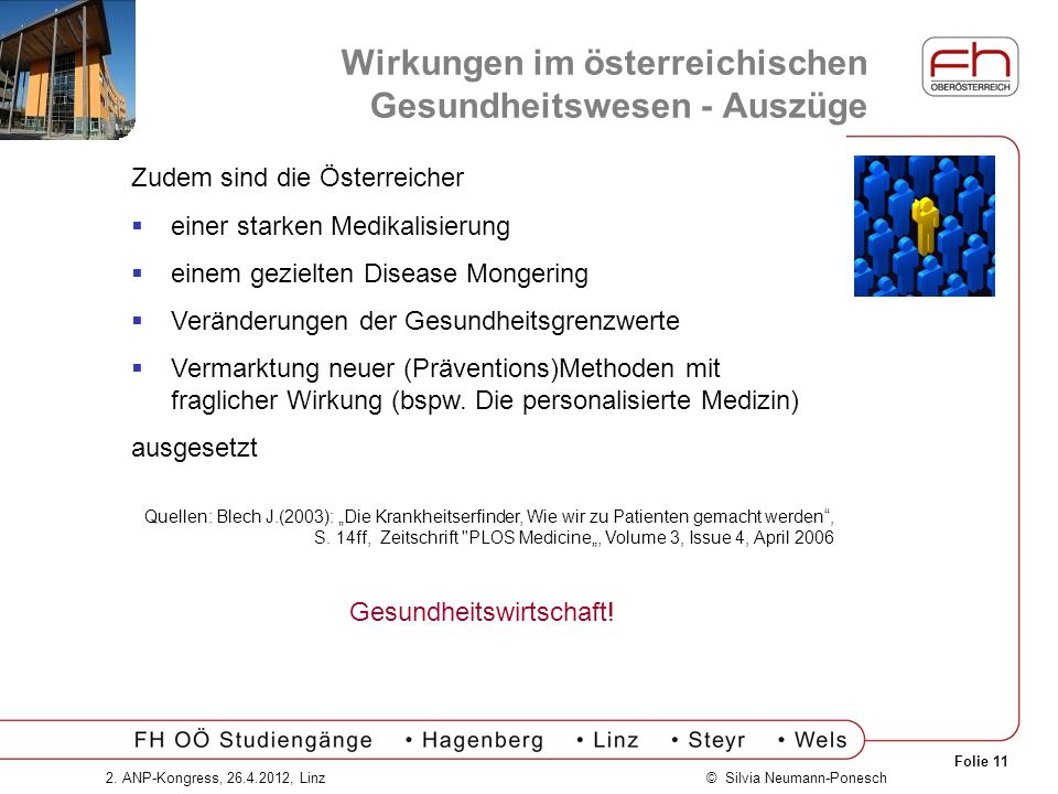 Wirkungen im österreichischen Gesundheitswesen - Auszüge