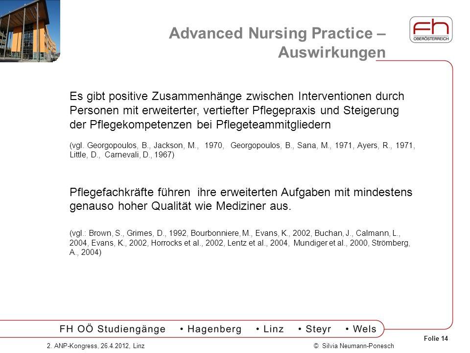 Advanced Nursing Practice – Auswirkungen