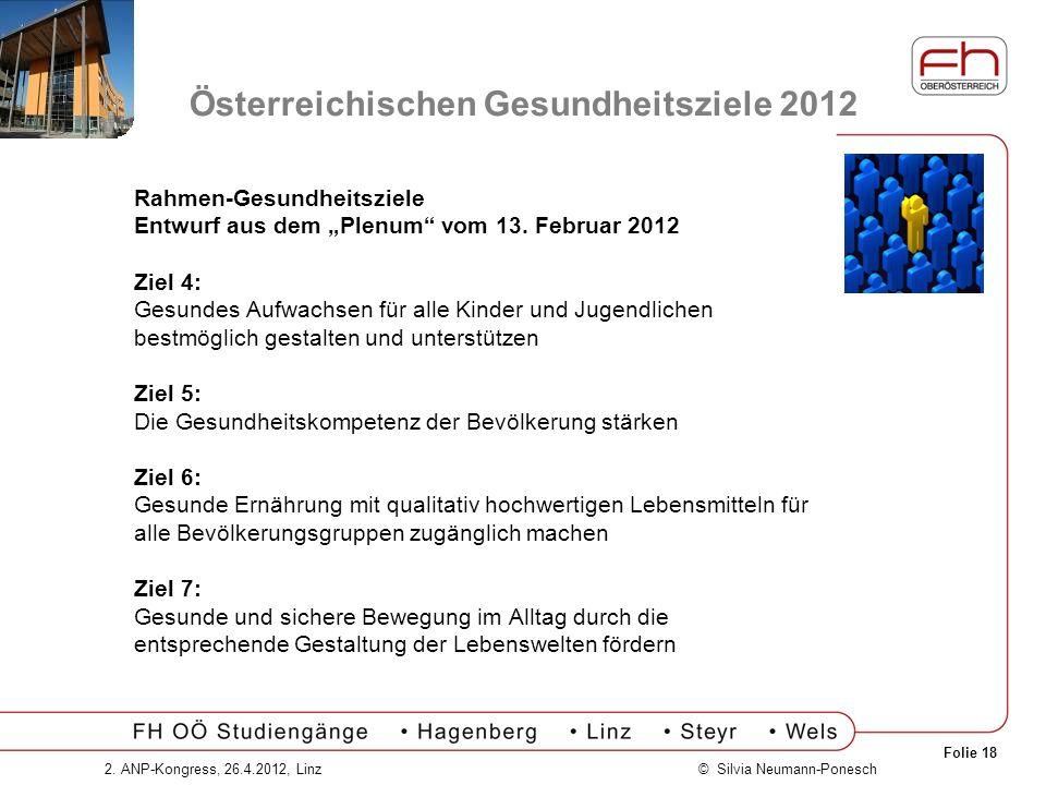 Österreichischen Gesundheitsziele 2012