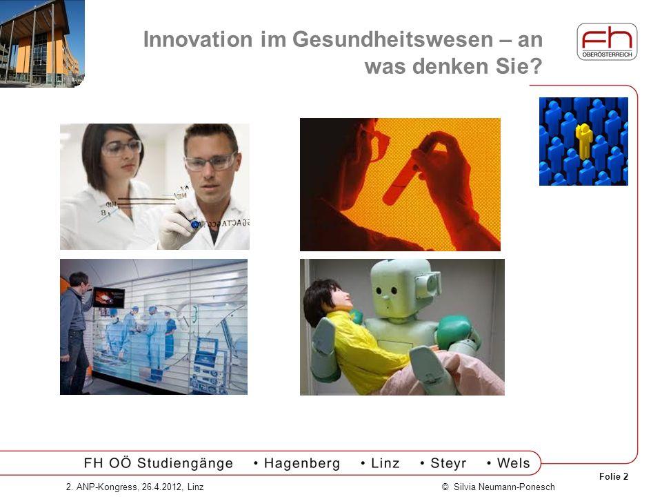 Innovation im Gesundheitswesen – an was denken Sie