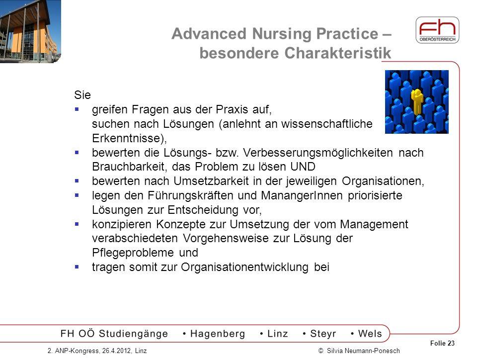 Advanced Nursing Practice – besondere Charakteristik