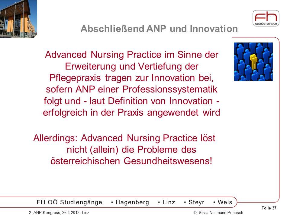 Abschließend ANP und Innovation