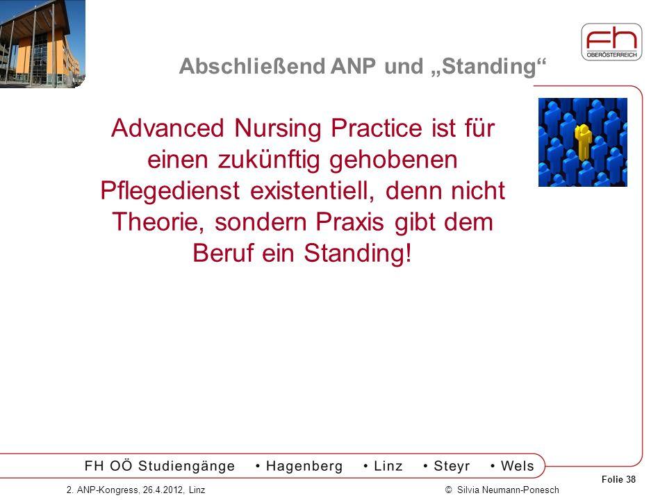 """Abschließend ANP und """"Standing"""