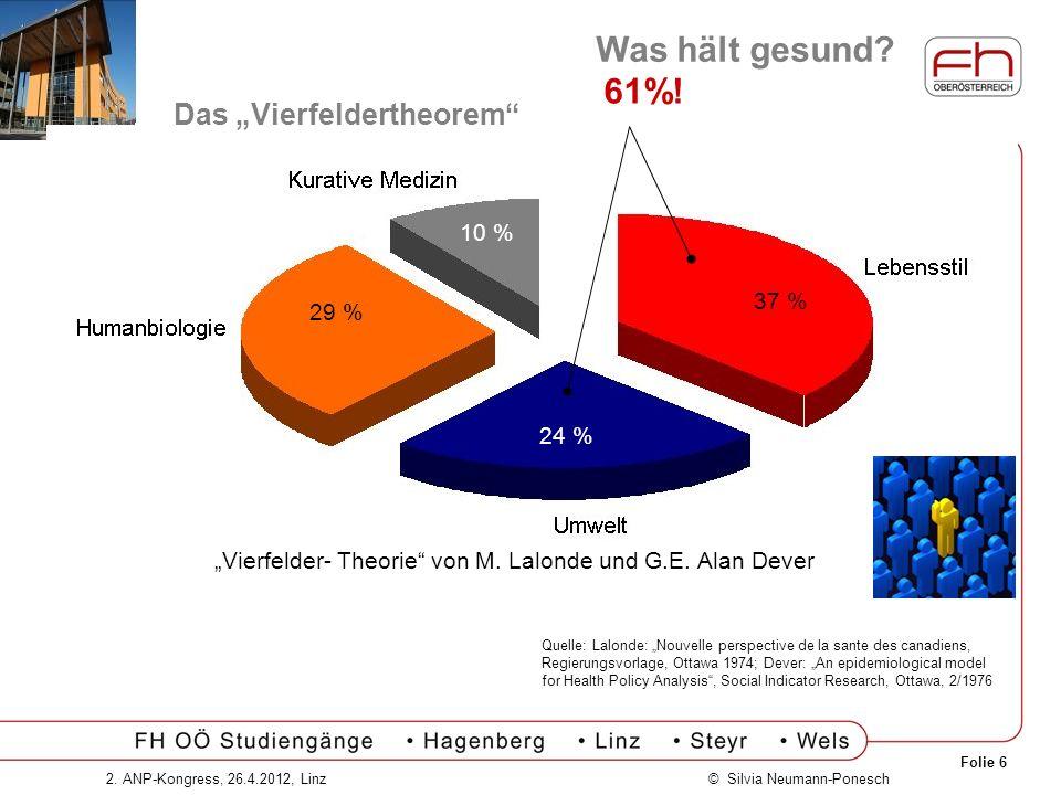 """""""Vierfelder- Theorie von M. Lalonde und G.E. Alan Dever"""
