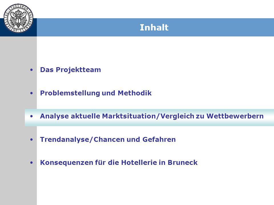 Inhalt Das Projektteam Problemstellung und Methodik