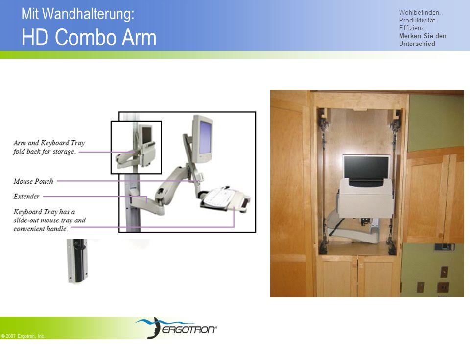 Mit Wandhalterung: HD Combo Arm