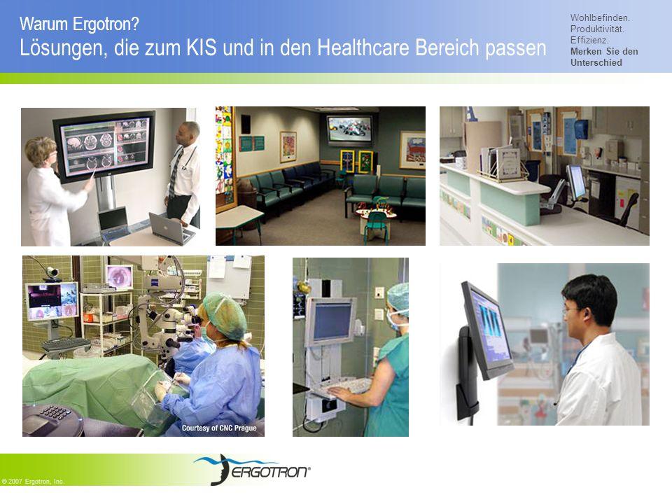 Warum Ergotron Lösungen, die zum KIS und in den Healthcare Bereich passen