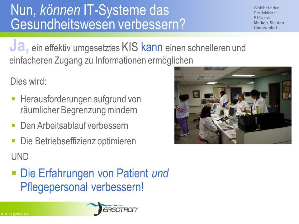 Nun, können IT-Systeme das Gesundheitswesen verbessern