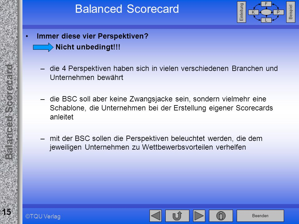 Balanced Scorecard Immer diese vier Perspektiven Nicht unbedingt!!!
