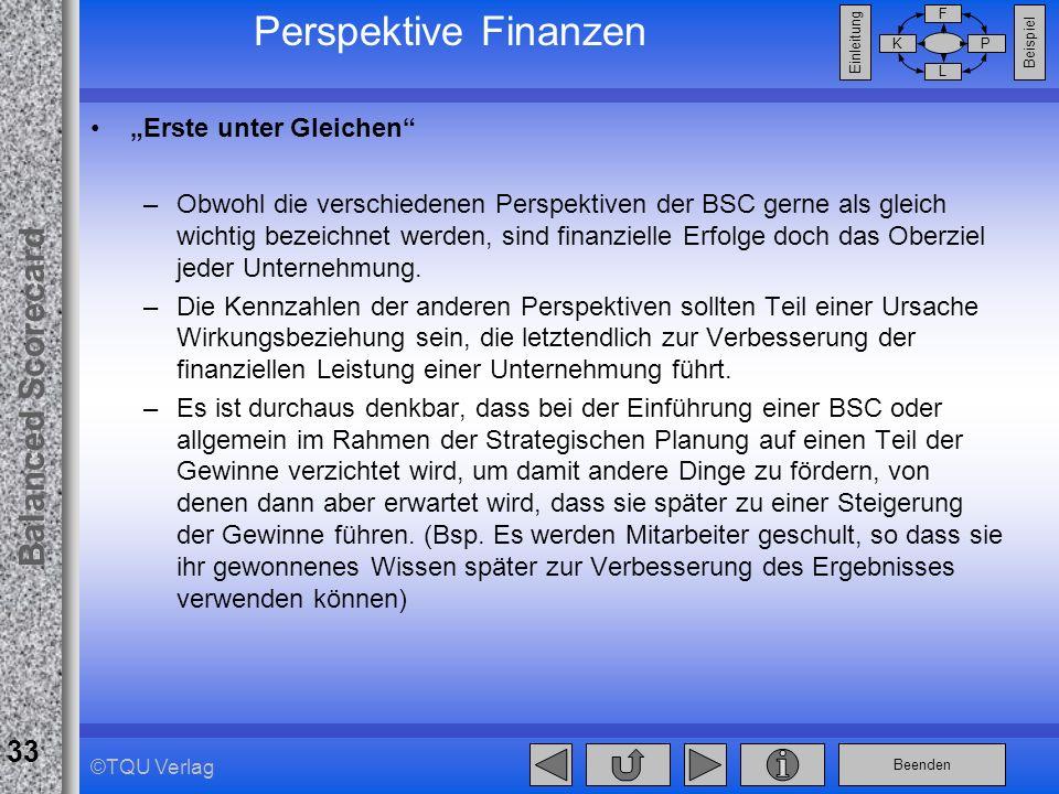 """Perspektive Finanzen """"Erste unter Gleichen"""