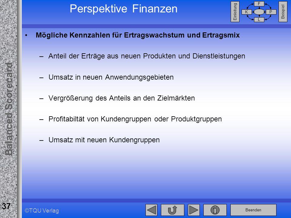 Perspektive Finanzen Mögliche Kennzahlen für Ertragswachstum und Ertragsmix. Anteil der Erträge aus neuen Produkten und Dienstleistungen.