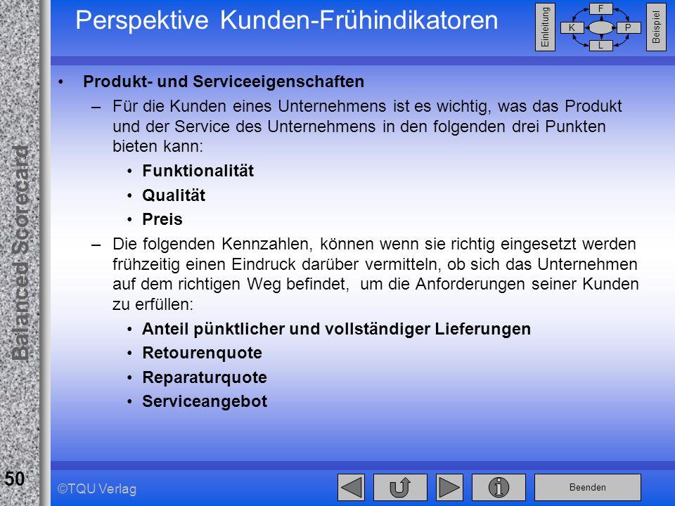 Perspektive Kunden-Frühindikatoren