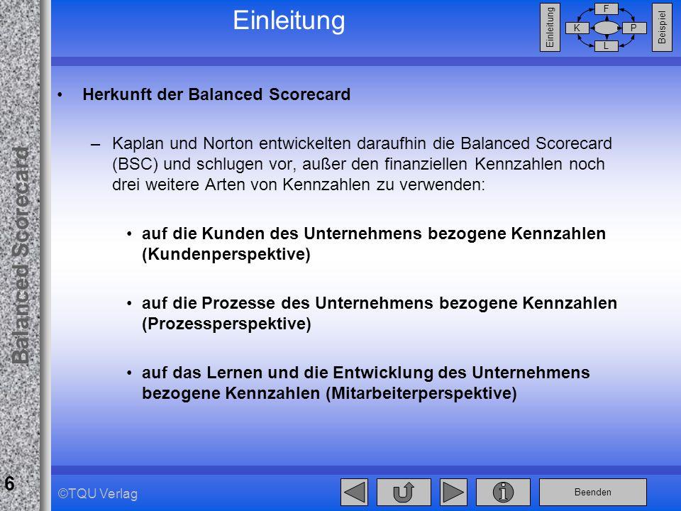 Einleitung Herkunft der Balanced Scorecard