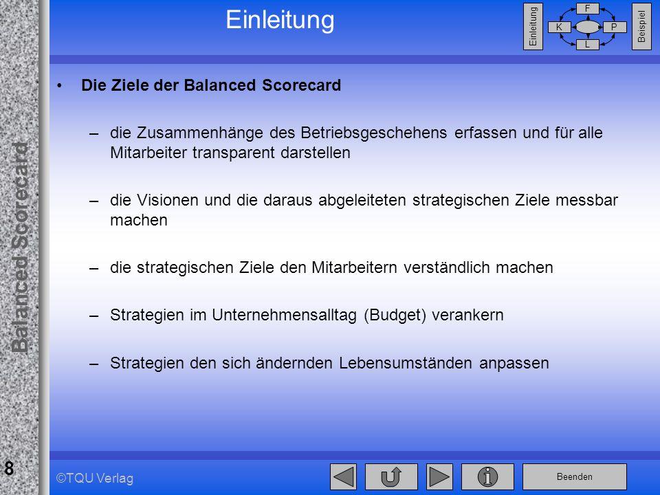 Einleitung Die Ziele der Balanced Scorecard