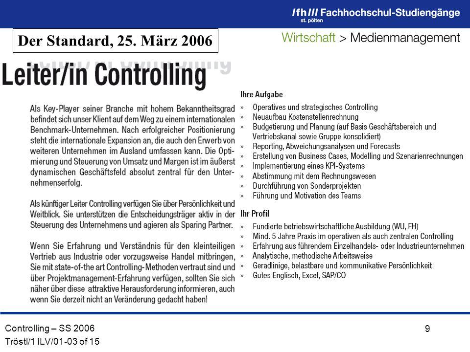 Der Standard, 25. März 2006