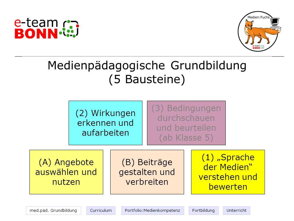 Medienpädagogische Grundbildung (5 Bausteine)