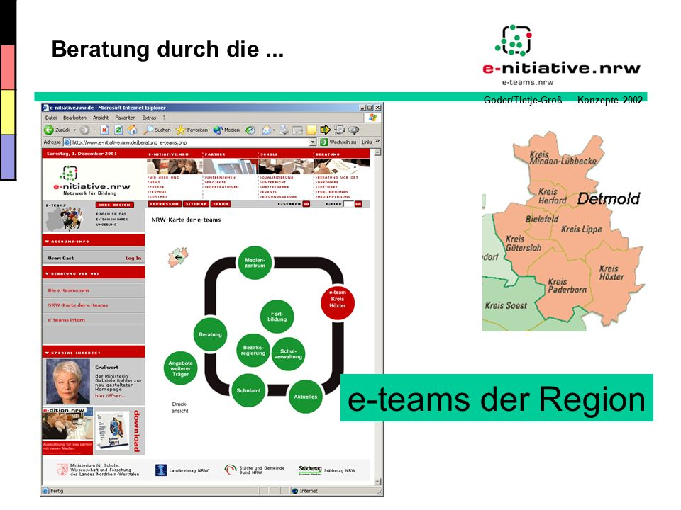 Beratung durch die ... e-teams der Region